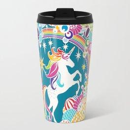 Rainbow Unicorn Hand-Cut Papercut Travel Mug