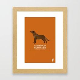 Chocolate Labrador Retriever Framed Art Print