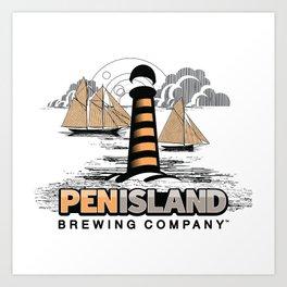 Pen Island Vintage Art Print