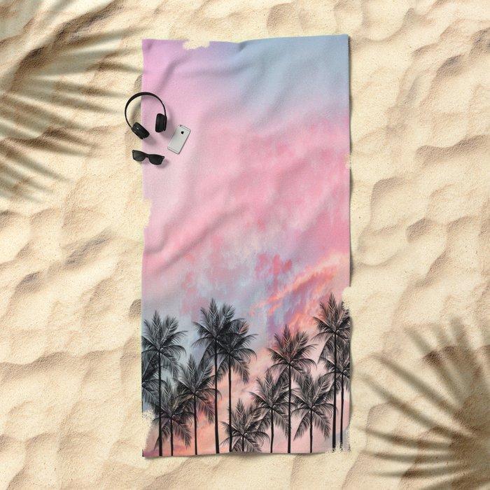 Summer Palm Tree #Society6 #Buyart #Decor Beach Towel