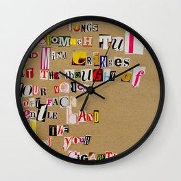 Stale Cigarettes Wall Clock