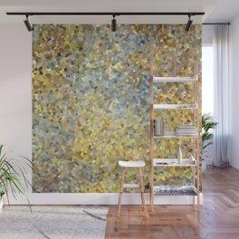 Golden abstract artwork Wall Mural