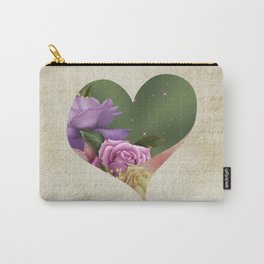 Heartfelt Love Letter & Roses Carry-All Pouch
