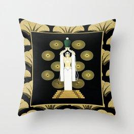 ERTE - Lady with Vase Throw Pillow