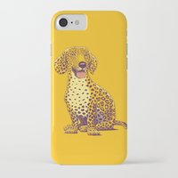 daschund iPhone & iPod Cases featuring Take a Woof on the Wild Side! by victor calahan