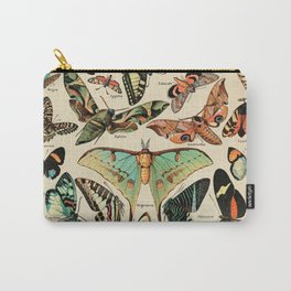 Adolphe Millot 1800s Vintage Butterfly Carry-All Pouch
