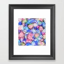Alcohol Ink Flower Pattern Framed Art Print