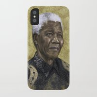 mandela iPhone & iPod Cases featuring Mandela by Sara Golish