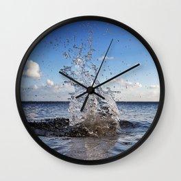 Water sculpture Wall Clock