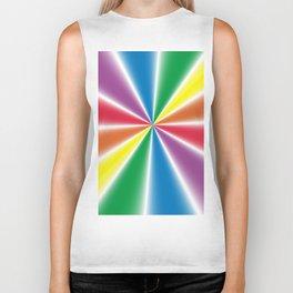 Gradient Rainbow Wedges Biker Tank