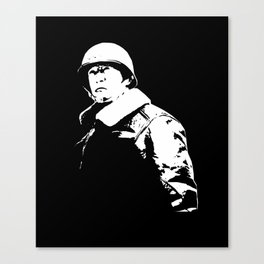 General George Patton - Black and White Canvas Print