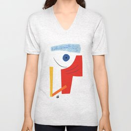 Abstract face. Unisex V-Neck