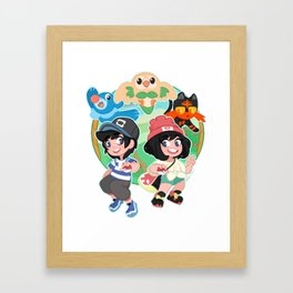 Trainers Ready to Battle Framed Art Print