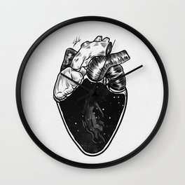 Inside your heart. Wall Clock