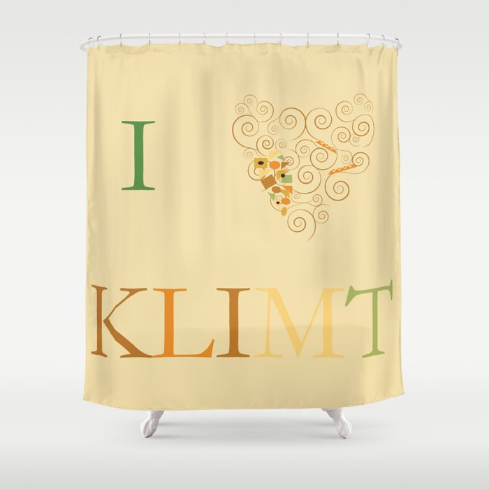 I Heart Klimt Shower Curtain By Simplesymbol