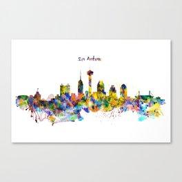 San Antonio Skyline Silhouette Canvas Print