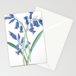 Blue Lily of the Valley Artwork Painting Stationery Cards