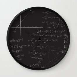 Mathematical seamless pattern Wall Clock