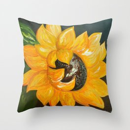 Sunflower Solo Throw Pillow