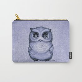 """The Little Owl"" by Amber Marine ~ (Lavender Bud Version) Pencil&Ink Illustration, (Copyright 2016) Carry-All Pouch"