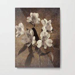 Vintage Flowers Digital Collage 19 Metal Print
