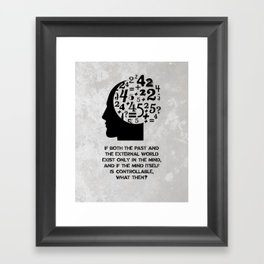 George Orwell - 1984 - Mind Control Framed Art Print