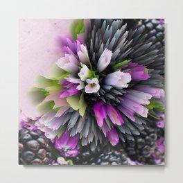 flowers and berries digital art Metal Print