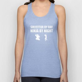 Solicitor By Day Ninja By Night Law T-Shirts Unisex Tank Top