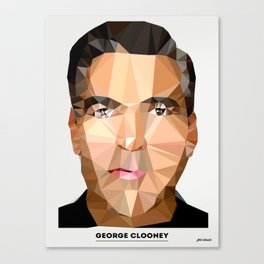 George Clooney Poly Canvas Print