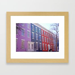 Colourful Streets Greenwich Village, NYC Framed Art Print