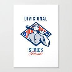 Baseball Divisional Series Finals Retro Canvas Print