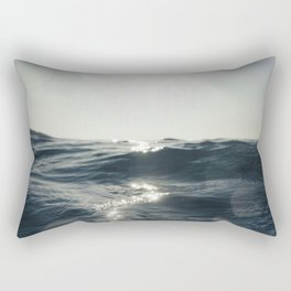 Sea surface movement at Fistral Beach, Newquay Rectangular Pillow