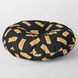 Grilled Cheese, Please (Black) Floor Pillow