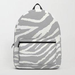 ZEBRA GRAY AND WHITE ANIMAL PRINT 2019 Backpack