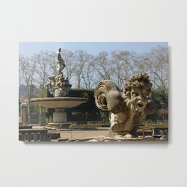Boboli Gardens In Florence Detail Of Isolotto Metal Print
