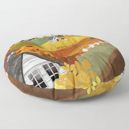 Autumn Village Floor Pillow