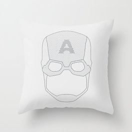 Capt America Throw Pillow