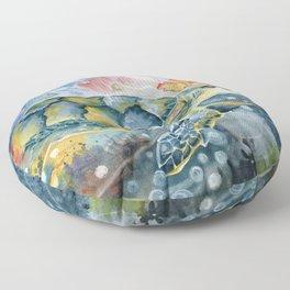 Colorful Seaturtle Art Floor Pillow