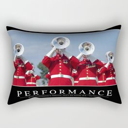Performance: Inspirational Quote and Motivational Poster Rectangular Pillow