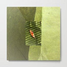 Leaf Noir Metal Print