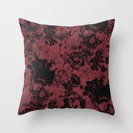 DARK SKULLS HALLOWEEN Throw Pillow