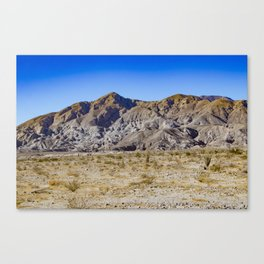 Looking Back towards Granite Mountain across the Highway in the Anza Borrego Desert State Park Canvas Print