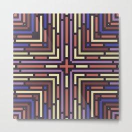 Geometrical labyrinth for home decoration Metal Print