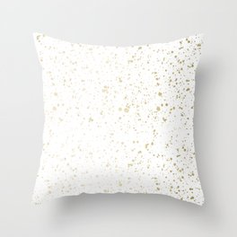 Los Angeles Nights Gold Paint Throw Pillow
