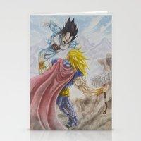 vegeta Stationery Cards featuring Vegeta V Thor by Kame Nico