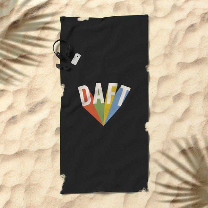 Letters : Daft II Beach Towel