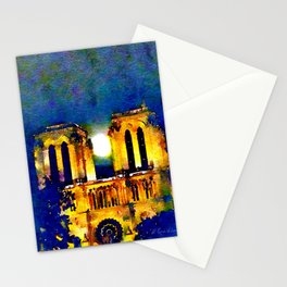 Notre Dame de Paris Full Moon Stationery Cards