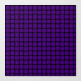 Small Indigo Violet Weave Canvas Print