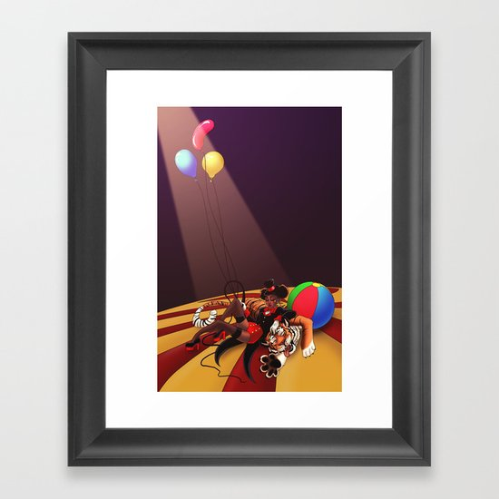 The Ringmaster's Nap - Variation Framed Art Print