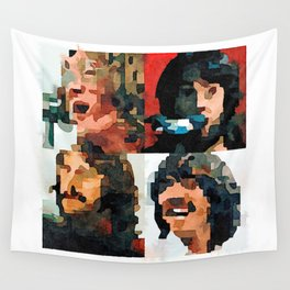 Fab Four Fan Art - Let It Be Watercolor Painting Wall Tapestry